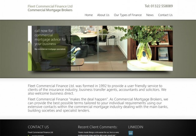 Fleet Finance new website